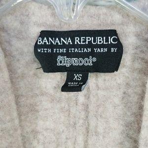 Banana Republic Filpucci Italian yarn open sweater